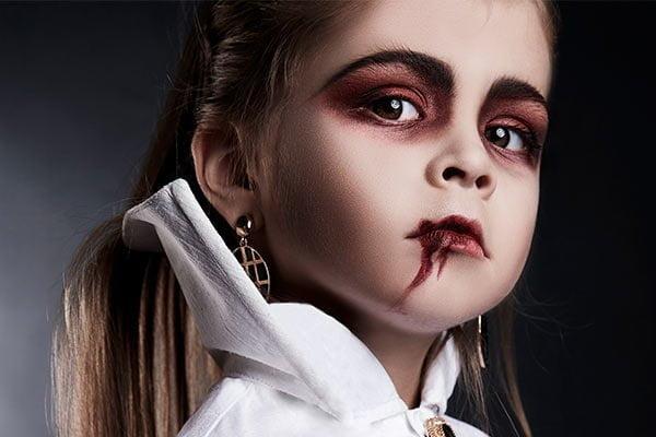 Maquillaje de Halloween niños vampiritos