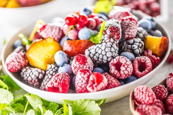 Congelar frutas y verduras