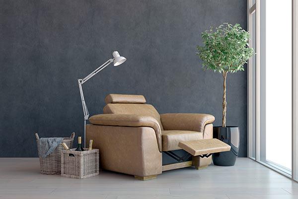 Sillón reclinable y práctico