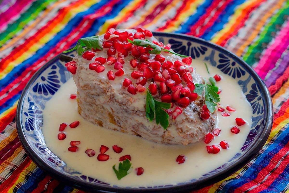 Receta de los chiles en nogada