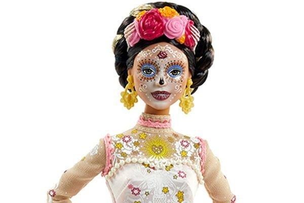 Barbie Día de Muertos 2020 rostro