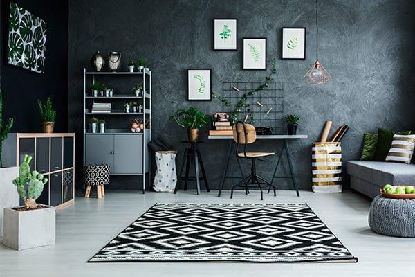 Decoración de interiores 2020-2021, Diseños geométricos en alfombras