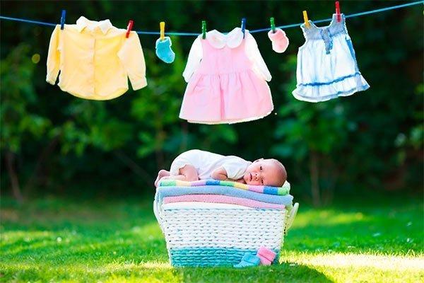 Limpieza de la ropa de bebé