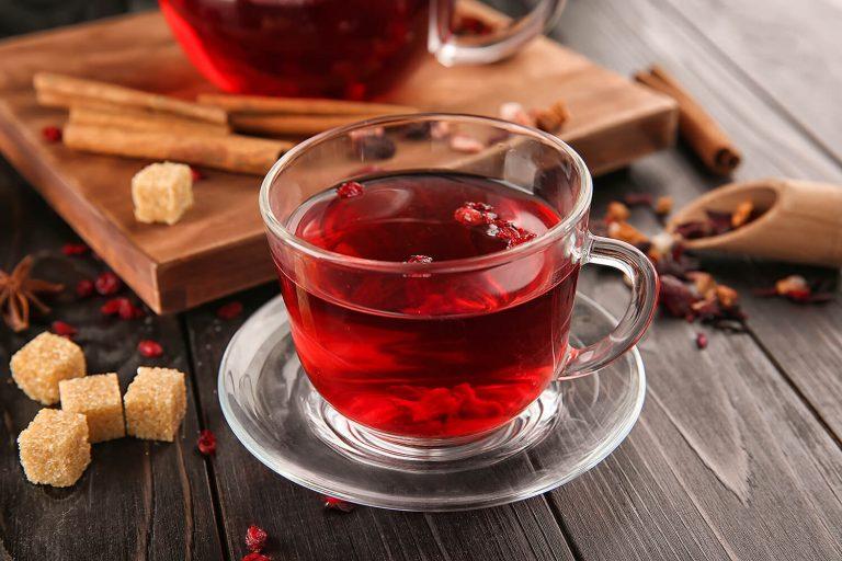 Receta te frutos rojos con miel