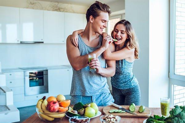 alimentación para hacer ejercicio en casa