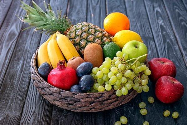 Porciones de frutas