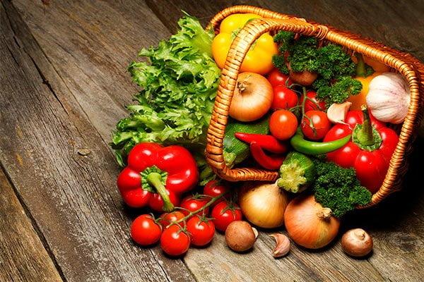 Porciones de verduras