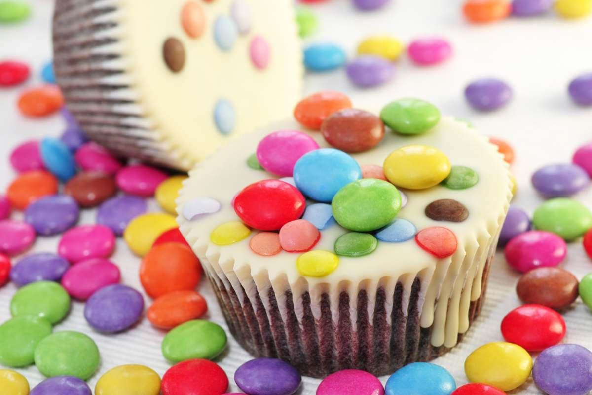 Receta de cupcakes con M&M´s