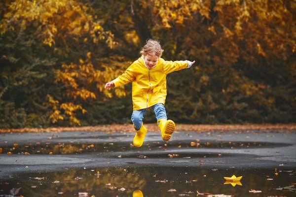 Razones para ser feliz, Saltar en los charcos