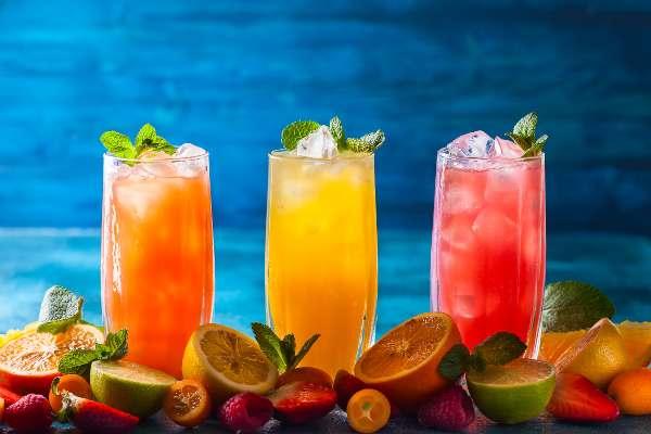 Limonadas de frutas, Cocteles refrescantes
