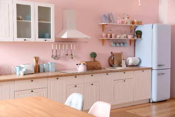 Decoración con colores pasteles en la cocina