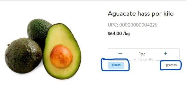 Elige por pieza o por gramaje al comprar alimentos en línea