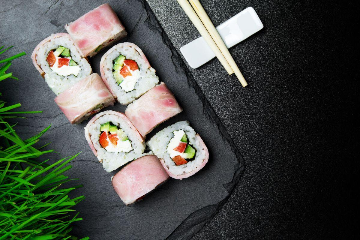 Receta de sushi con virginia de pollo Fud
