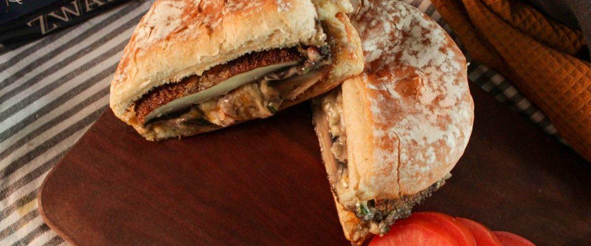 Cómo preparar hamburguesa de portobello